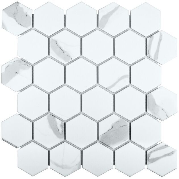 Мозайка  Hexagon Small Carrara Matt